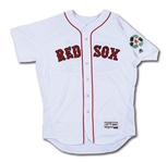 4/21/2016 DAVID PRICE BOSTON RED SOX GAME WORN HOME JERSEY (MLB AUTH.)