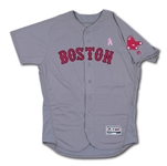 5/8/2016 DAVID PRICE BOSTON RED SOX (MOTHERS DAY) GAME WORN ROAD JERSEY (MLB AUTH.)