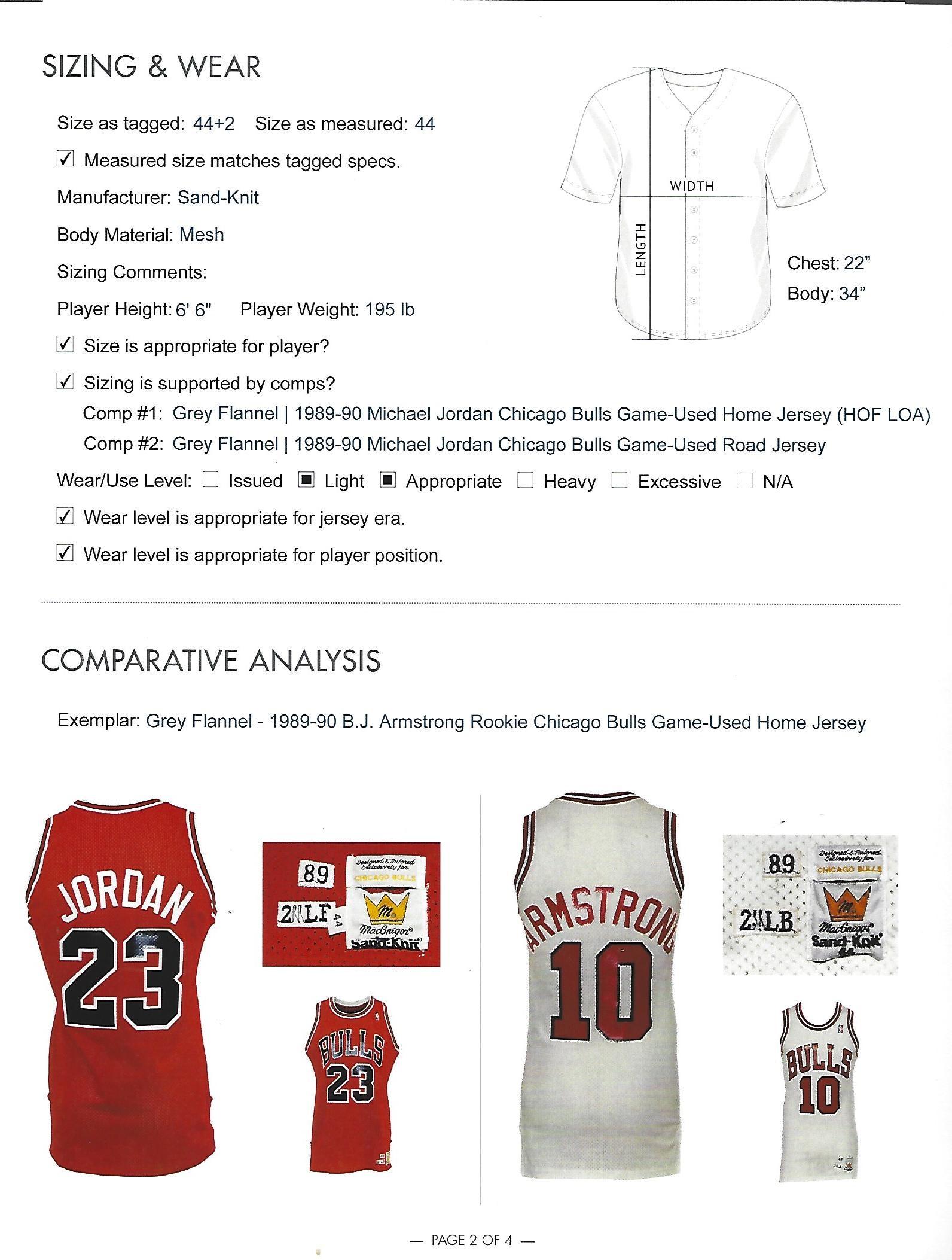 7282b194f Lot Detail - 1989-90 MICHAEL JORDAN CHICAGO BULLS GAME WORN ROAD ...