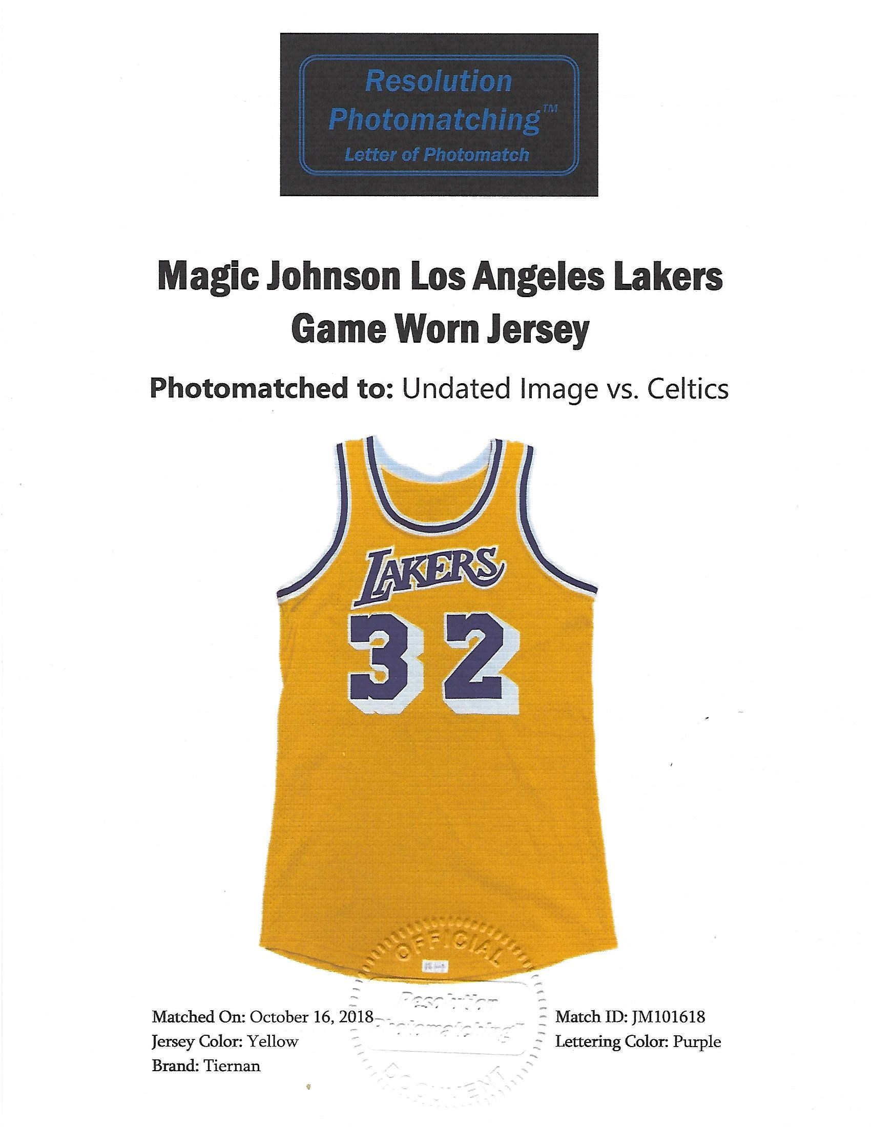 65e88c6ced4 ... MAGIC JOHNSON LOS ANGELES LAKERS (CHAMPIONSHIP SEASON) GAME WORN HOME  JERSEY. Touch to zoom. Previous