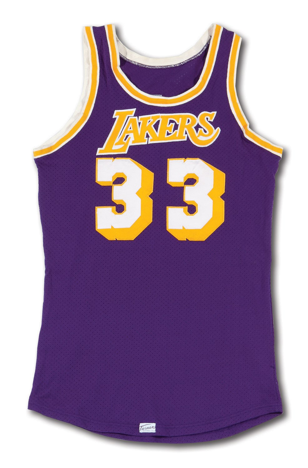 3482b4f0fab EARLY 1980S KAREEM ABDUL-JABBAR LOS ANGELES LAKERS GAME WORN ROAD JERSEY  (HOLLYWOOD AGENT. Touch to zoom