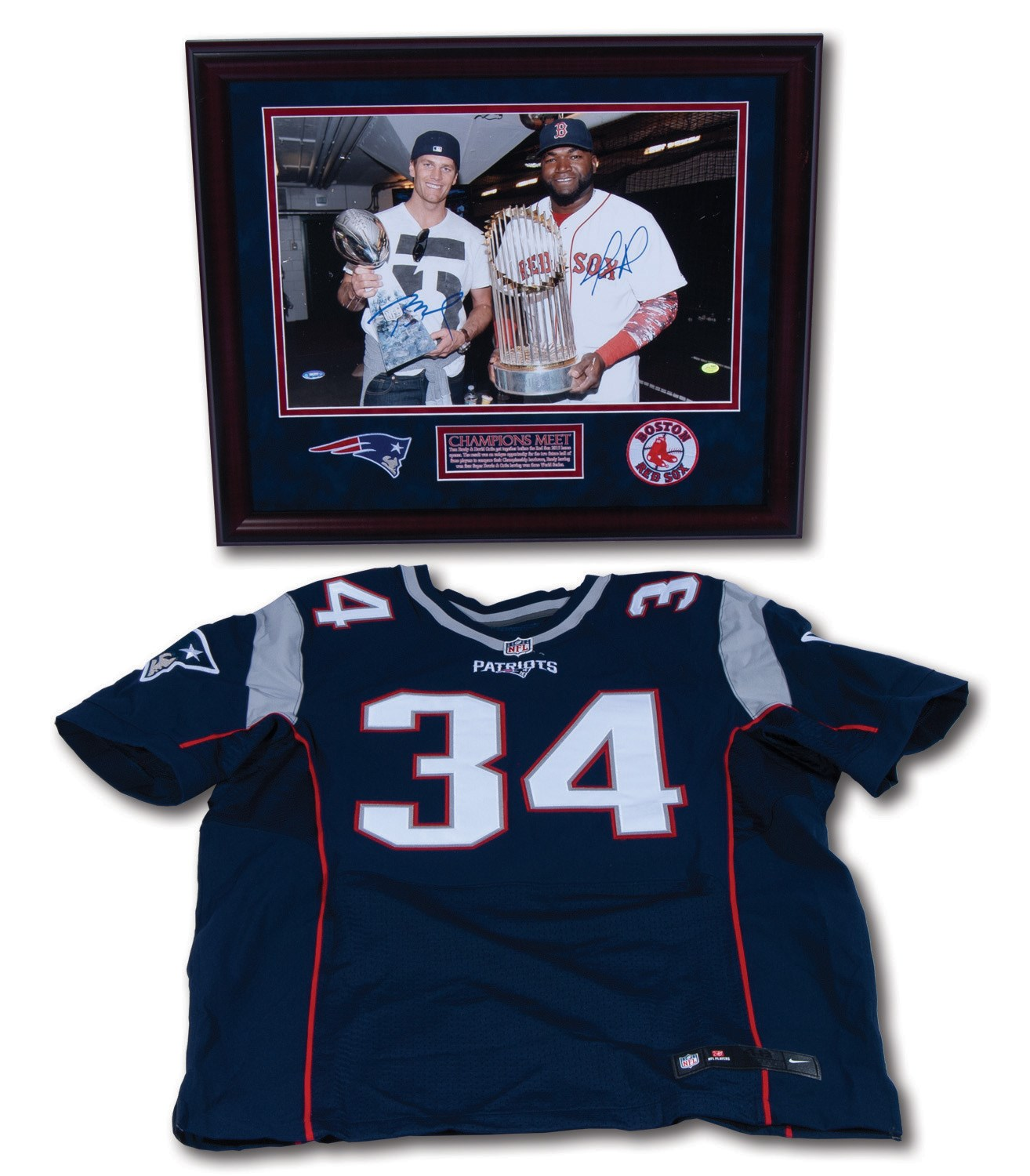 new arrival bac1a bd3c0 Lot Detail - TOM BRADY AND DAVID ORTIZ DUAL-SIGNED 16x20 ...
