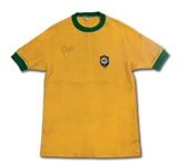 PELES SIGNED 1970 BRAZIL NATIONAL TEAM GAME WORN JERSEY ATTRIBUTED TO MAY 24TH EXHIBITION MATCH (BRAZILIAN PLAYER PROVENANCE)