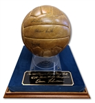 OSCAR ROBERTSONS 1960 OLYMPIC CHAMPIONS TEAM USA SIGNED GAME BALL FROM GOLD MEDAL FINAL (ROBERTSON COLLECTION)