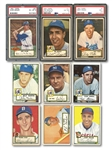1952 TOPPS LOW NUMBER NEAR SET (283/310) INCL. SNIDER PSA EX-MT 6