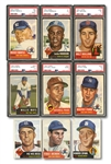1953 TOPPS BASEBALL COMPLETE SET OF (274) WITH SIX PSA GRADED INCL. MANTLE & MAYS