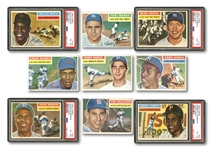 1956 TOPPS BASEBALL COMPLETE SET OF (340) WITH FOUR PSA GRADED INCL. #135 MANTLE (VG-EX 4)