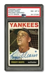 ROGER MARIS AUTOGRAPHED 1964 TOPPS #225 CARD (PSA/DNA NM-MT 8 AUTO.)
