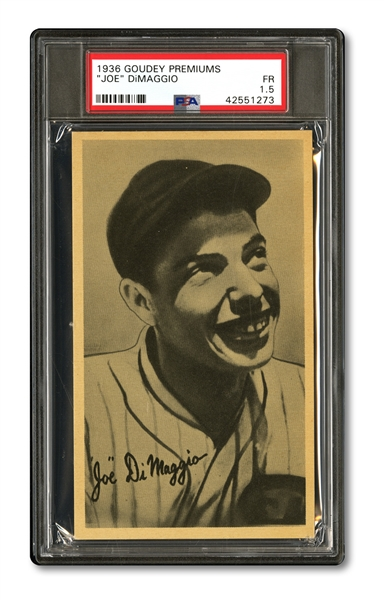 1936-37 GOUDEY WIDE PEN R314 (LOT OF 44) WITH PSA GRADED JOE DIMAGGIO ROOKIE – 4 CARDS SIGNED