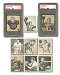 1948 BOWMAN FOOTBALL NEAR COMPLETE SET (105/108) WITH TWO PSA GRADED ROOKIES