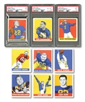 1948 LEAF FOOTBALL NEAR SET (92/98) WITH THREE PSA GRADED ROOKIES