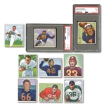 1950 BOWMAN FOOTBALL COMPLETE SET OF (144) WITH TWO PSA GRADED