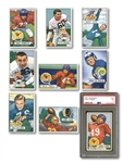 1951 BOWMAN FOOTBALL COMPLETE SET OF (144) WITH SIGNED OTTO GRAHAM & PSA EX 5 LANDRY