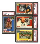 1955 TOPPS ALL-AMERICAN FOOTBALL COMPLETE SET OF (100) WITH PSA GRADED THORPE, GRANGE, ROCKNE & FOUR HORSEMEN