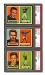 1957 TOPPS FOOTBALL COMPLETE SET OF (154) WITH UNITAS & STARR ROOKIES BOTH PSA EX-MT 6