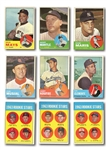 1963 TOPPS BASEBALL NEAR SET (539/576) PLUS SEVERAL DUPLICATES