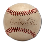 8/5/1947 BABE RUTH SINGLE SIGNED ONL (FRICK) BASEBALL
