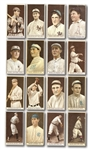 "1912 T207 BROWN BACKGROUND LOT OF (32) INCL. LIVINGSTON (""A"") AND SAIER"