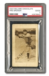 1923 V100 WILLARD CHOCOLATE TRIS SPEAKER PSA GD 2