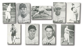 1947 BOND BREAD HOMOGENIZED BASEBALL NEAR SET (33/44) PLUS FOUR DUPES AND TWO BOXERS (39 TOTAL CARDS)