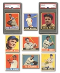 1948 LEAF BASEBALL LOT OF (31) DIFFERENT INC. WILLIAMS, RUTH, AND MUSIAL