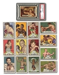 1951 TOPPS RINGSIDE LOT OF (14) INCLUDING #32 ROCKY MARCIANO PSA EX-MT+ 6.5