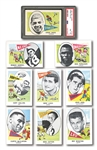 1961 NU-CARDS FOOTBALL HIGH GRADE COMPLETE SET OF (80) WITH PSA NM-MT 8 ERNIE DAVIS RC