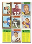 1966 PHILADELPHIA (164/198) AND 1966 TOPPS (101/132) FOOTBALL PARTIAL SETS