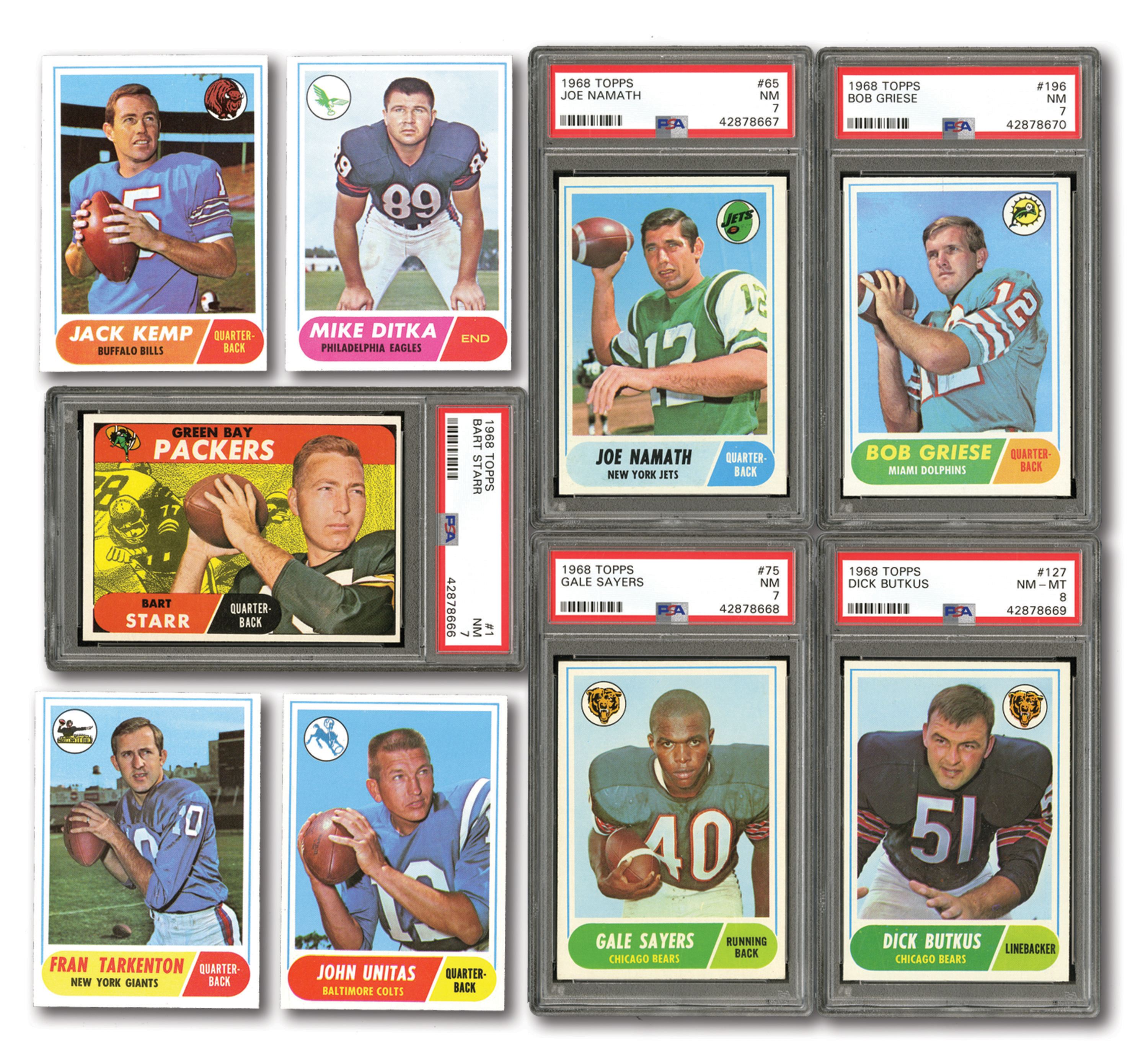 Lot Detail 1968 Topps Football Complete Set Of 219