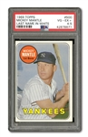 1969 TOPPS BASEBALL #500 MICKEY MANTLE (WHITE LETTER) PSA VG-EX+ 4.5