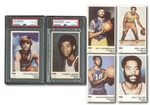 1972 ICEE BEAR BASKETBALL COMPLETE SET OF (20) WITH TWO PSA GRADED