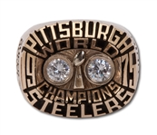 1975 FRANCO HARRIS PITTSBURGH STEELERS SUPER BOWL X WORLD CHAMPIONS 10K GOLD SALESMAN SAMPLE RING