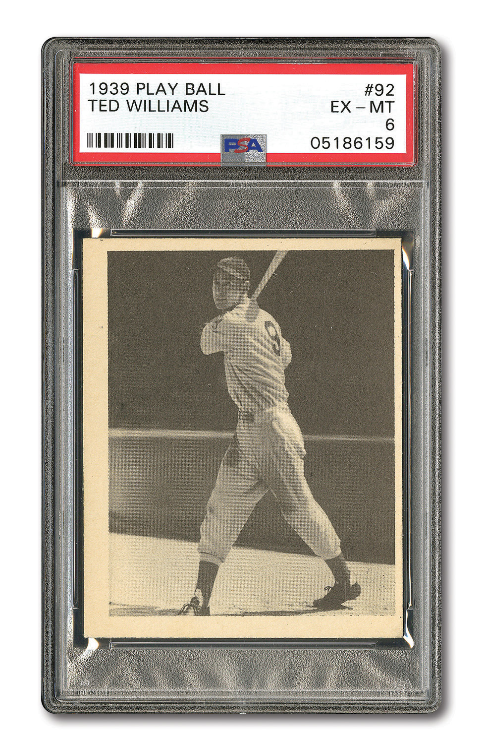 Lot Detail 1939 Play Ball 92 Ted Williams Rookie Psa Ex Mt 6
