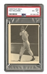 1939 PLAY BALL #92 TED WILLIAMS ROOKIE PSA EX-MT 6