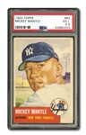 1953 TOPPS #82 MICKEY MANTLE PSA EX+ 5.5