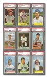 1954 BOWMAN BASEBALL COMPLETE SET OF (224) WITH 26 CARDS PSA GRADED
