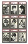 1964 TOPPS BEATLES BLACK & WHITE 1ST SERIES COMPLETE SET OF (60) – THE #2 CURRENT & ALL-TIME FINEST SET ON PSA SET REGISTRY