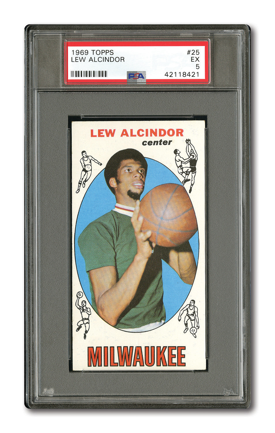 Lot Detail 1969 Topps 25 Lew Alcindor Psa Ex 5 And 20 John