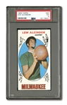 1969 TOPPS #25 LEW ALCINDOR (PSA EX 5) AND #20 JOHN HAVLICEK (UNGRADED) ROOKIE CARDS