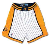 2004-05 REGGIE MILLER INDIANA PACERS (FINAL SEASON) GAME WORN SHORTS PHOTO-MATCHED TO SEVERAL GAMES