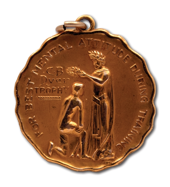 OSCAR ROBERTSONS BEST MENTAL ATTITUDE DURING TRAINING MEDAL (ROBERTSON COLLECTION)