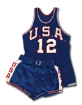OSCAR ROBERTSONS 1959 PAN AMERICAN GAMES (GOLD MEDAL CHAMPIONS) USA BASKETBALL GAME WORN FULL UNIFORM (ROBERTSON COLLECTION, MEARS A10)