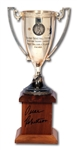 OSCAR ROBERTSONS AUTOGRAPHED 1959 HOLIDAY BASKETBALL FESTIVAL MADISON SQUARE GARDEN MVP TROPHY (ROBERTSON COLLECTION)