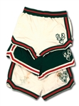 OSCAR ROBERTSONS C. EARLY 1970S TRIO OF MILWAUKEE BUCKS GAME WORN SHORTS – TWO HOME & ONE ROAD (ROBERTSON COLLECTION)