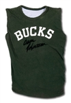 OSCAR ROBERTSONS AUTOGRAPHED C. EARLY 1970S MILWAUKEE BUCKS PRACTICE WORN JERSEY (ROBERTSON COLLECTION)