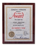 OSCAR ROBERTSONS AUTOGRAPHED 1960 COACH & ATHLETE MAGAZINE ALL-AMERICA TEAM PLAQUE (ROBERTSON COLLECTION)