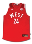 "KOBE BRYANT SIGNED AND ""18X AS"" INSCRIBED 2016 NBA WESTERN CONFERENCE ALL-STAR TEAM JERSEY (PANINI AUTH.)"