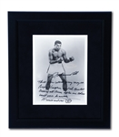 "MUHAMMAD ALI SIGNED PHOTO INSCRIBED ""3-TIME WORLD HEAVYWEIGHT CHAMPION AND GREATEST OF ALL-TIME, AFTER ME THERE WILL NEVER BE ANOTHER. WAIT AND SEE"""