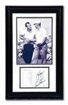 JACK NICKLAUS AND ARNOLD PALMER DUAL-SIGNED AUGUSTA NATIONAL GOLF CLUB SCORECARD