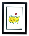 JACK NICKLAUS, ARNOLD PALMER AND GARY PLAYER (THE BIG 3) TRIPLE-SIGNED 2013 THE MASTERS GARDEN FLAG